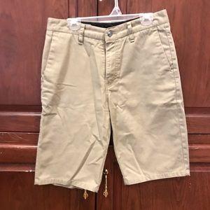 Boys size 16 Volcom khaki shorts